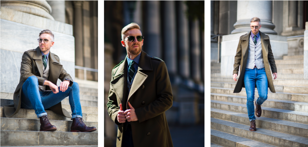 Steve Tilly wears Transitions Style Colours in emerald